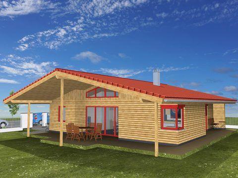 massivholz bungalow 1 zimmerei walter brunthaler rk. Black Bedroom Furniture Sets. Home Design Ideas