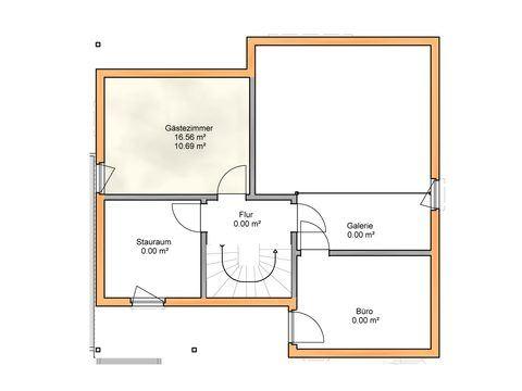 Einfamilienhaus klassisch - Grundriss OG - Zimmerei Walter Brunthaler