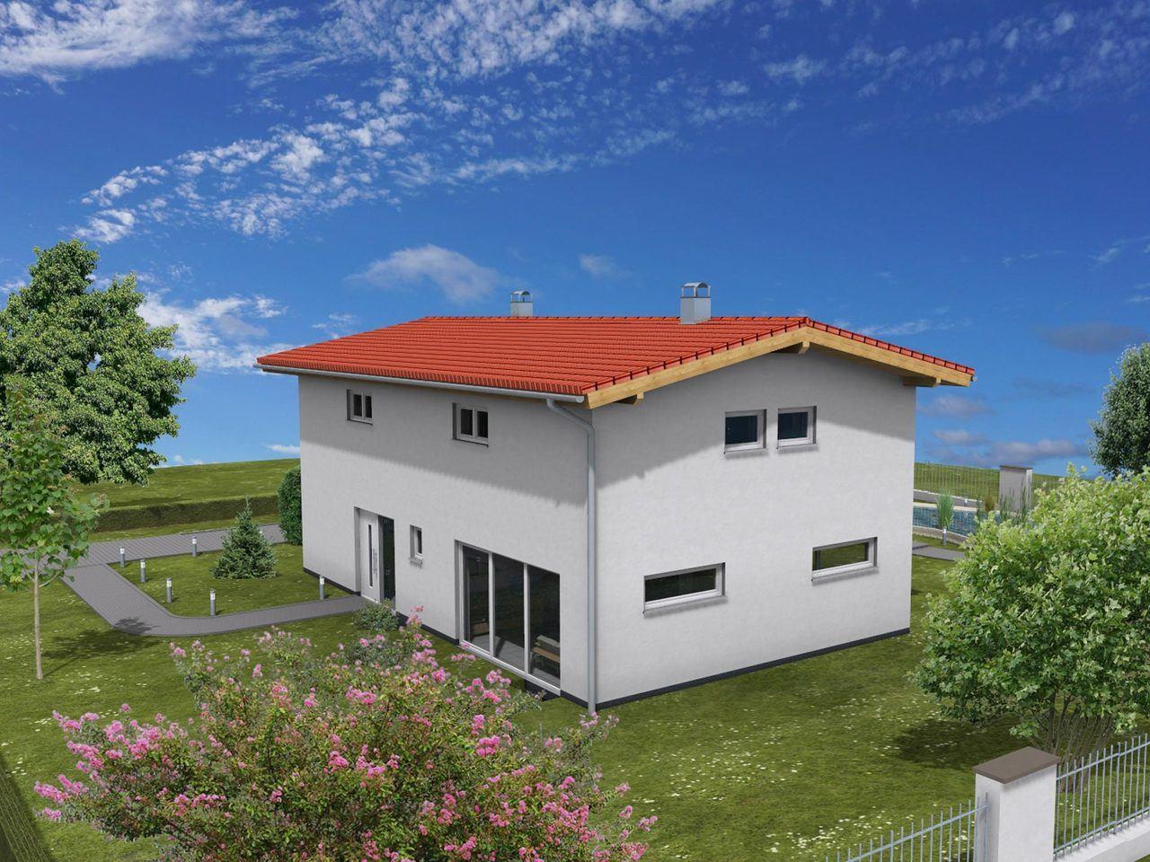 Einfamilienhaus mit zwei Vollgeschossen - Zimmerei Walter Brunthaler