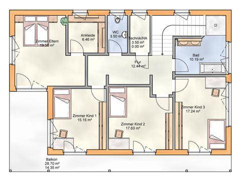 Einfamilienhaus 220 DG - Zimmerei Walter Brunthaler