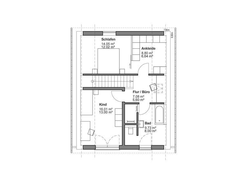 Einfamilienhaus Chausseestraße 132 - Grundriss OG