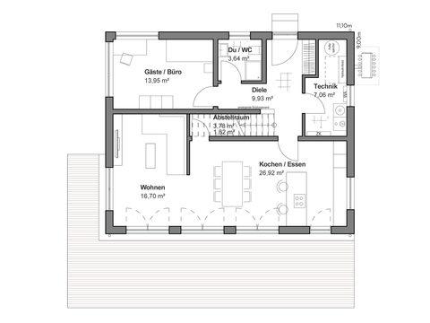 Einfamilienhaus Chausseestraße 157 - Grundriss EG