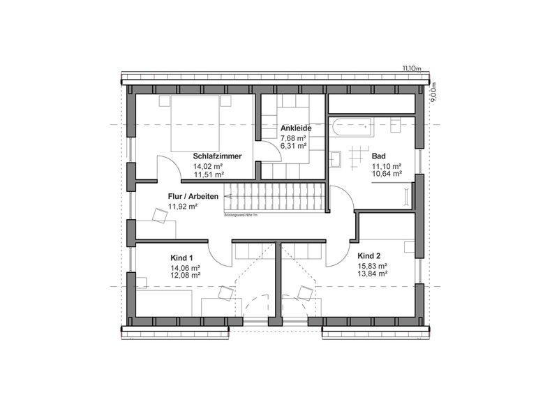 Einfamilienhaus Chausseestraße 157 - Grundriss OG