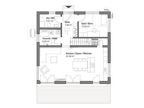 Stadtvilla Schlossallee 151 - Grundriss EG