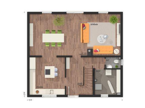Einfamilienhaus Flair 125 Grundriss EG - VODIES Massivhaus