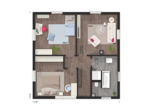 Stadthaus Flair 124 Grundriss OG - VODIES Massivhaus