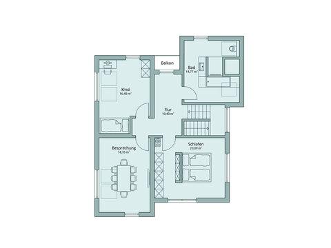 Musterhaus Günzburg - TALBAU-Haus - Grundriss OG