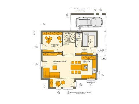 Musterhaus Sunshine 143 - Grundriss EG