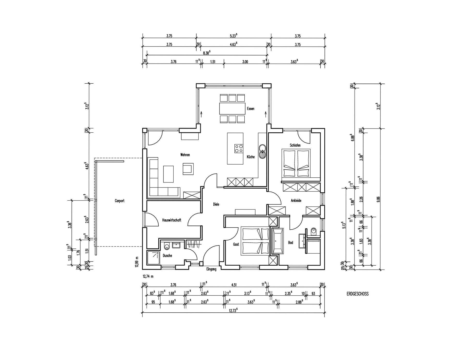 musterhaus riedel baumeister haus. Black Bedroom Furniture Sets. Home Design Ideas