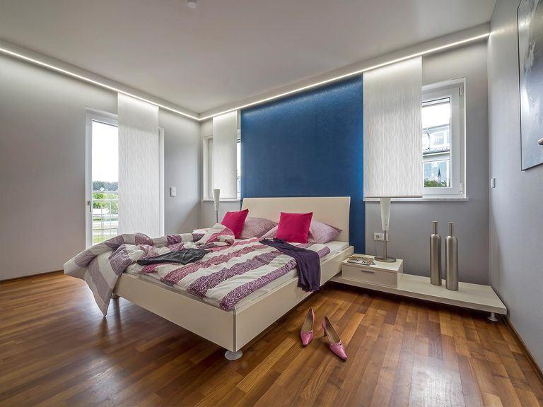 Musterhaus Falkenberg 150, Schlafzimmer
