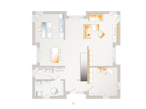 Grundriss EG allkauf haus Musterhaus City Villa 1