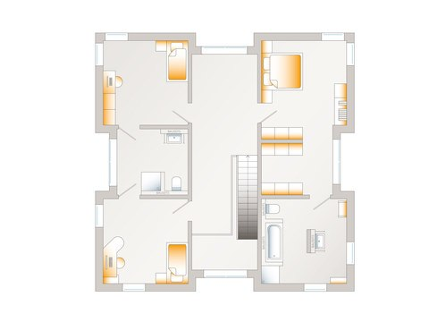 Grundriss OG allkauf haus Musterhaus City Villa 1