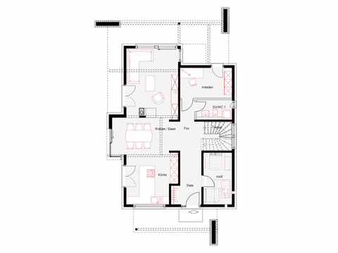 Musterhaus OKAL Poing - OKAL Haus Grundriss EG