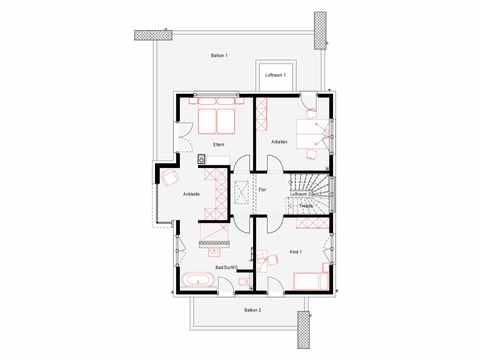 Musterhaus OKAL Poing - OKAL Haus Grundriss OG