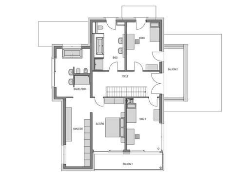 Musterhaus Eiche - Heinz von Heiden - Grundriss OG