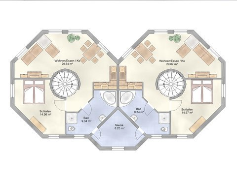 Musterhaus Leuchtfeuer - Ohrdrufer Hausbau - Grundriss OG