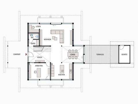 Musterhaus HUF Haus ART 4 - HUF HAUS, EG