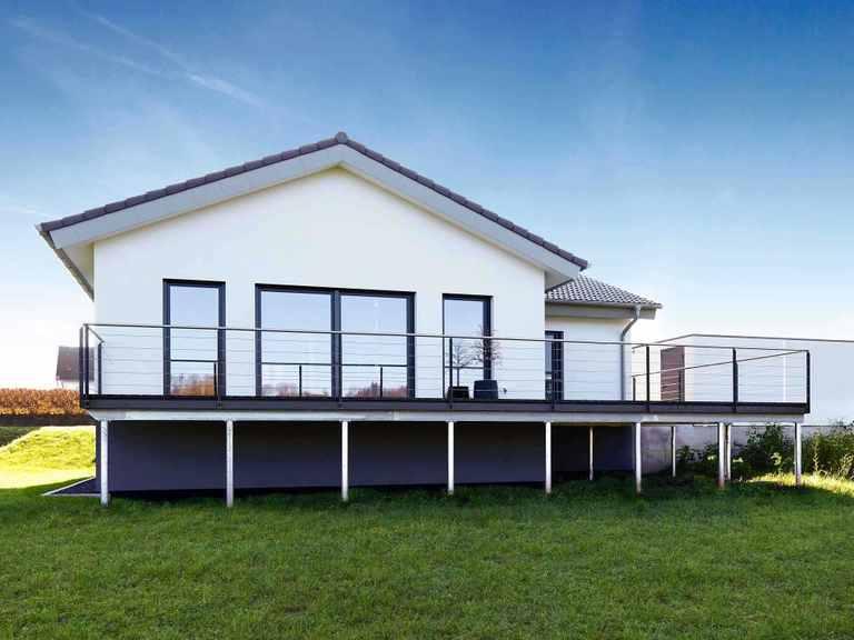 ICON Winkelbungalow - Dennert Raumfabrik Terrasse