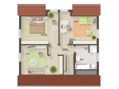 Musterhaus Husum - Flair 125 Grundriss OG