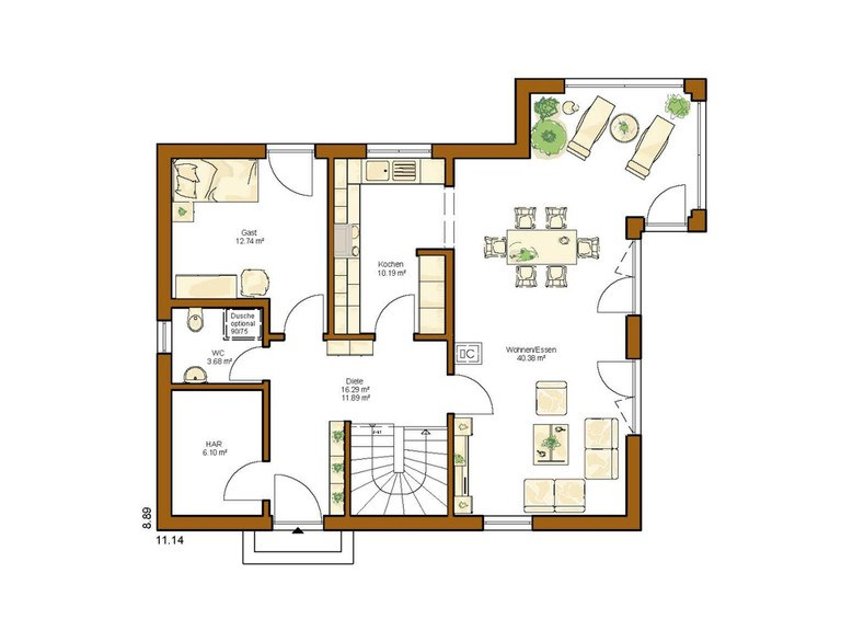 Einfamilienhaus Clou 156 - Grundriss EG