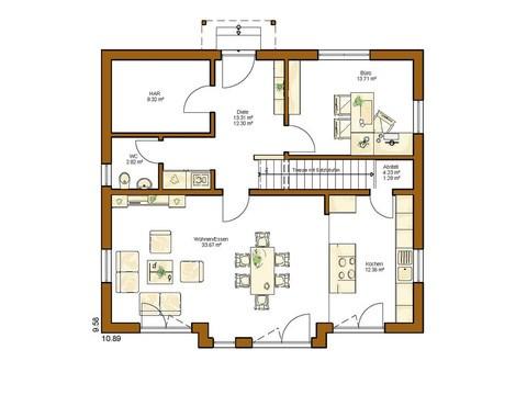 Einfamilienhaus Clou 169 - Grundriss EG