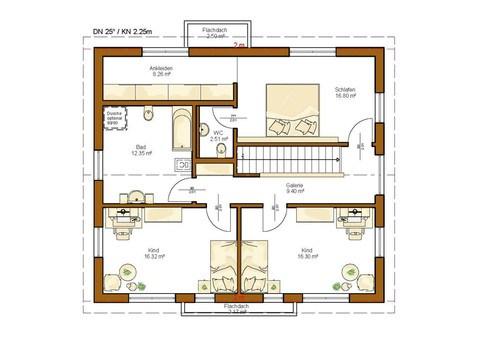 Einfamilienhaus Clou 169 - Grundriss OG
