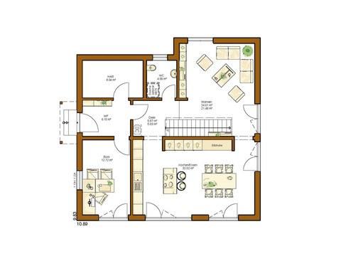 Einfamilienhaus Clou 174 - Grundriss EG