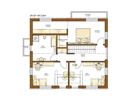 Einfamilienhaus Clou 174 - Grundriss OG
