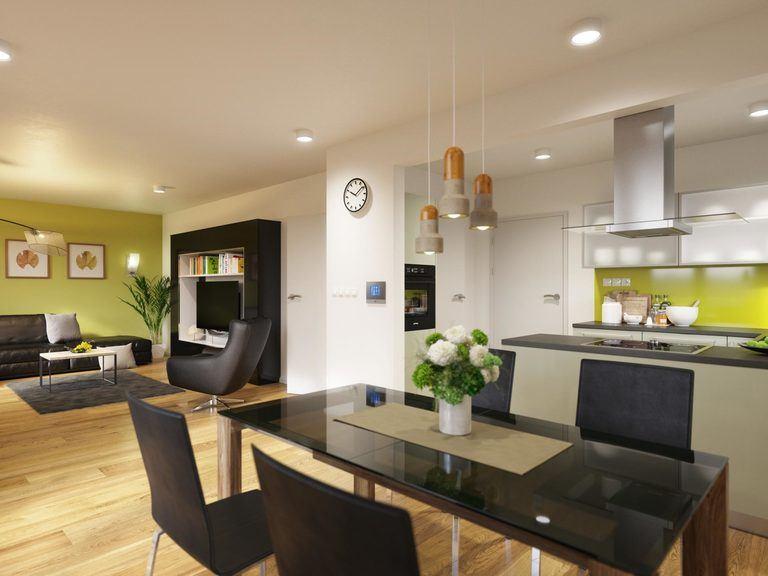 Einfamilienhaus Clou 123 - Wohnbereich