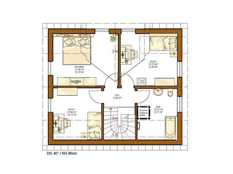 Einfamilienhaus Clou 123 Grundriss DG
