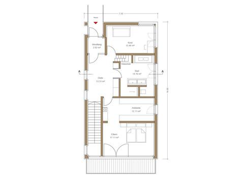 Haus Quadfass - Grundriss DG