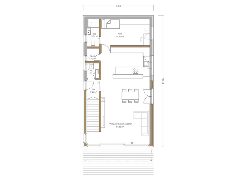 Haus Quadfass - Grundriss UG