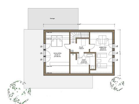 Haus Silbereiche - Grundriss DG
