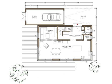 Haus Silbereiche - Grundriss EG
