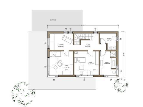 Haus Silbereiche - Grundriss OG