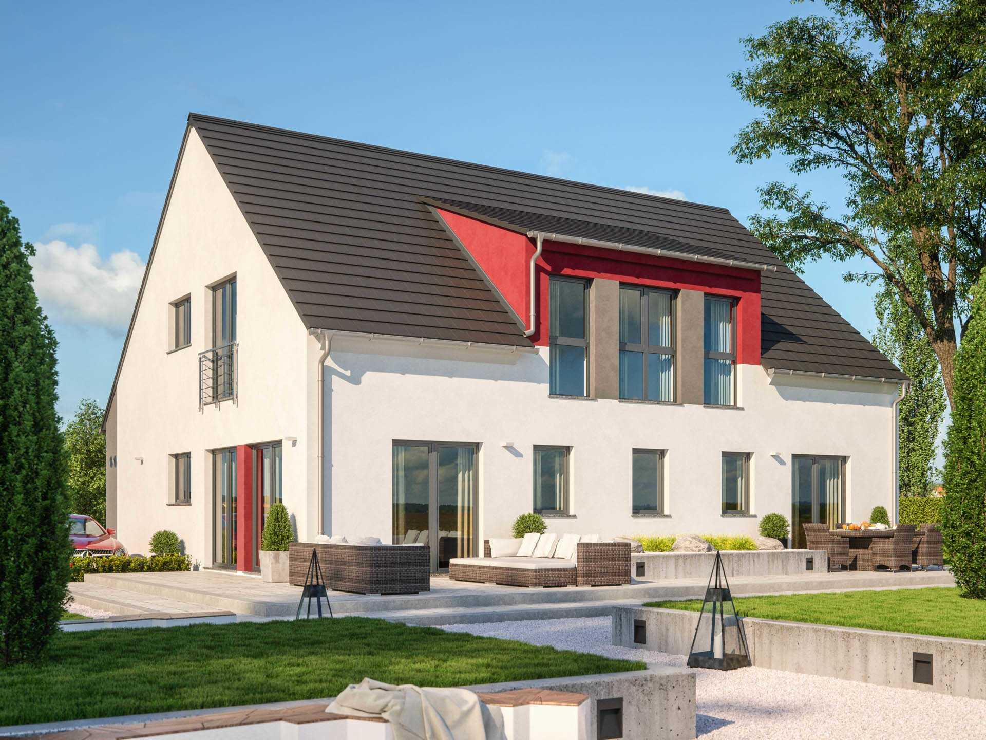 zweifamilienhaus clou 254 rensch haus. Black Bedroom Furniture Sets. Home Design Ideas