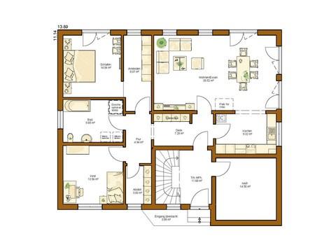 Einfanilienhaus Clou 254 - Grundriss EG