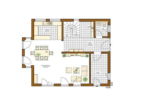 Kundenhaus Lancaster - Grundriss EG