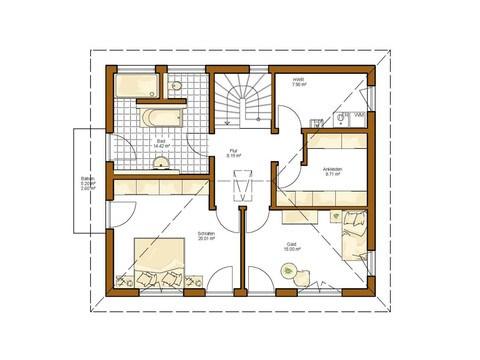 Kundenhaus Lancaster - Grundriss OG