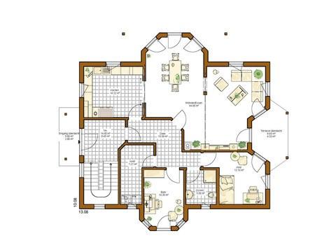 Kundenhaus Turin - Grundriss EG