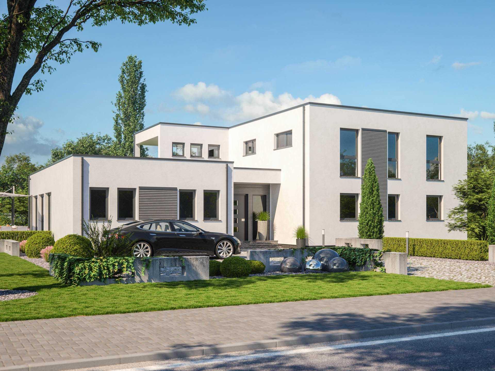 Haus twinline r genua rensch haus for Modernes haus mit einliegerwohnung