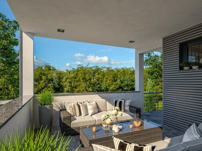 Haus Twinline R Genua - Balkon