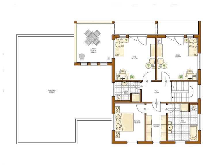Haus Twinline R Genua - Grundriss OG