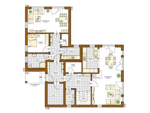 Haus Twinline R Savona - Grundriss EG