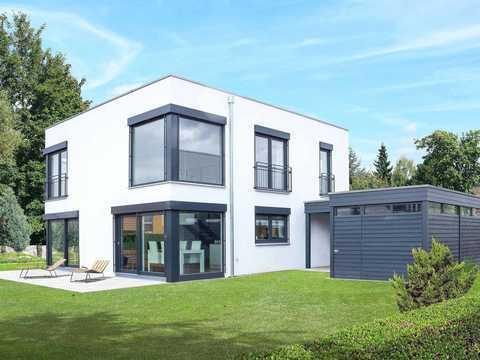 kubus mit einliegerwohnung homestory 314 lehner haus. Black Bedroom Furniture Sets. Home Design Ideas