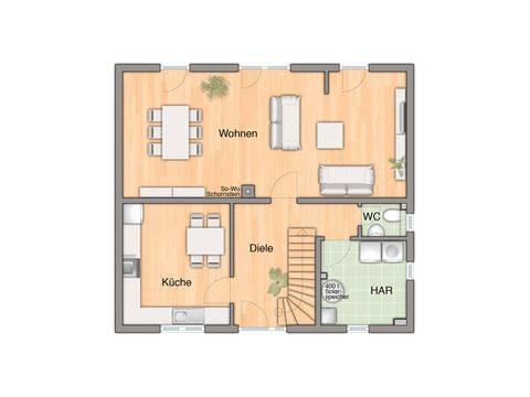 Flair 134 Grundriss Erdgeschoss