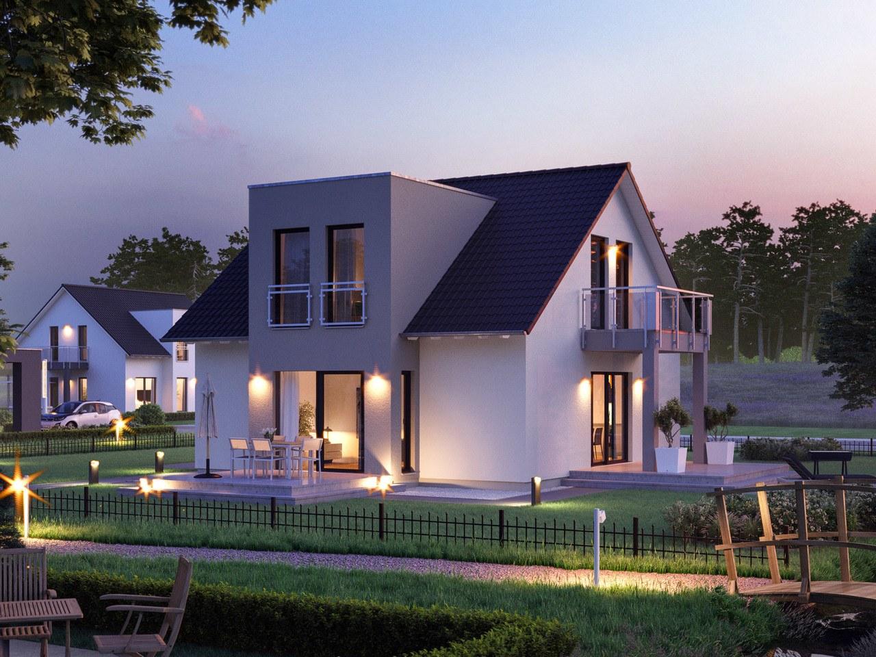 Massa Haus LifeStyle 18G Garten Abend