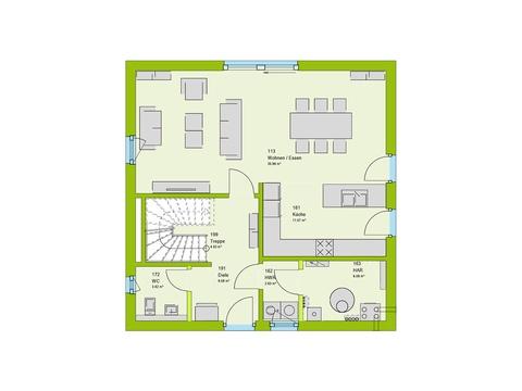 Massa Haus LifeStyle 18G Grundriss EG