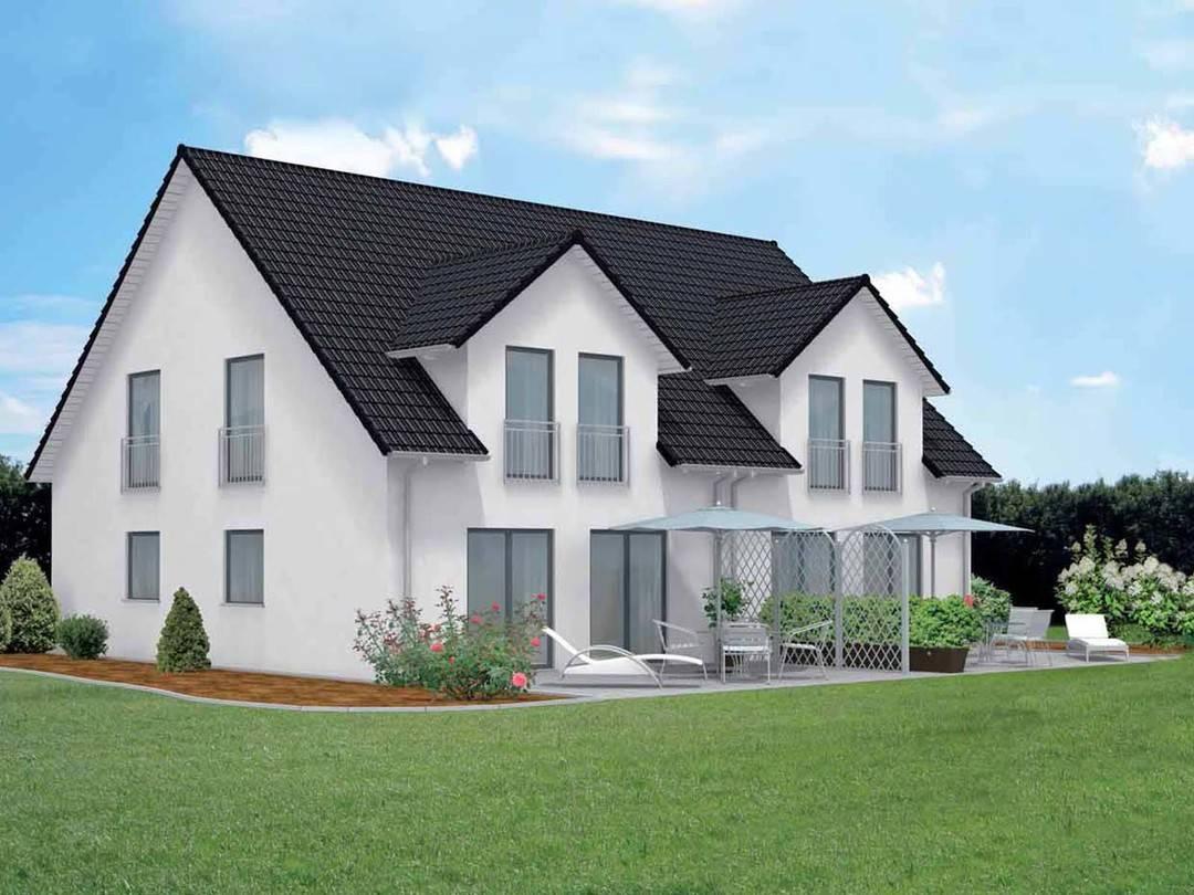 Doppelhaus family 110 econ haus for Doppelhaus modern