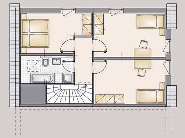Doppelhaus Family Grundriss